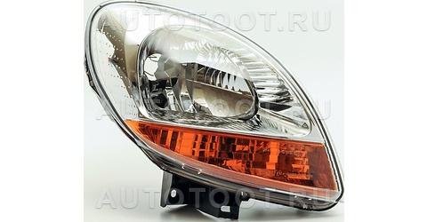 Фара правая (внутри хром, желтый габарит) Renault Kangoo  2003-2007 год / I