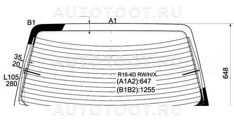 Стекло заднее с обогревом (седан) Renault 19 1991-1996 год / II