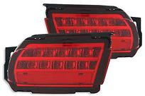 Фонарь в задний бампер левый+правый (комплект, с диодами, красный)  TOYOTA LAND CRUISER PRADO 2009-2013 год / J15