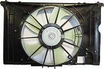 Диффузор радиатора в сборе (рамка+мотор+вентилятор) TOYOTA COROLLA FIELDER 2006-2011 год / E140