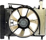 Диффузор радиатора охлаждения (рамка+мотор+вентилятор) TOYOTA VITZ 2005-2007 год / P9