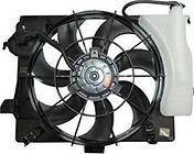 Диффузор радиатора в сборе (рамка+мотор+вентилятор) HYUNDAI SOLARIS 2010-2014 год / I