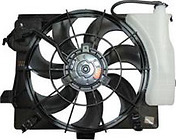 Диффузор радиатора в сборе (рамка+мотор+вентилятор) KIA RIO 2011-2015 год / III