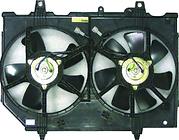 Диффузор радиатора охлаждения в сборе (мотор+рамка+вентилятор) NISSAN X-TRAIL 2000-2007 год / T30