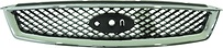 Решетка радиатора (черная с хромом) FORD FOCUS 2005-2007 год / II