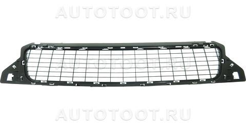 Решетка переднего бампера (черная) Renault Duster 2010-2014 год / I