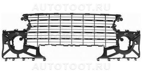 Решетка переднего бампера (с отверстиями под противотуманки) Peugeot 307 2005-2008 год / I