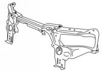 Балка суппорта радиатора верхняя