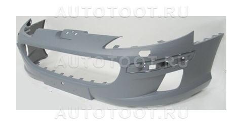 Бампер передний (с отверстиями под омыватели фар) Peugeot 407 2004-2008 год / I