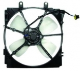 Диффузор радиатора охлаждения в сборе (рамка+мотор+вентилятор, MT) MAZDA CRONOS 1991-1996 год / GE