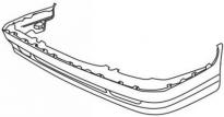 Бампер передний со спойлером VOLVO 850  1994-1996 год / II