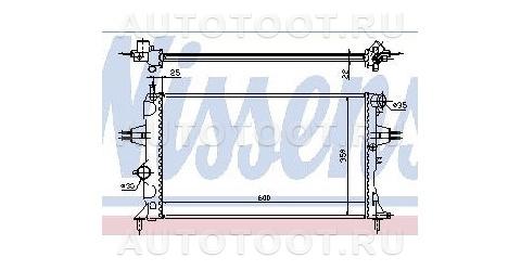 Радиатор охлаждения Opel Zafira  1999-2005 год / A