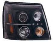 Фара левая+правая (комплект, тюнинг, линзованная, внутри черная) CADILLAC ESCALADE 2002-2006 год / I