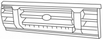 Решетка радиатора центральная LAND ROVER DISCOVERY  1990-1994 год / I