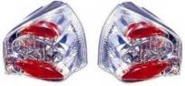 Фонарь задний левый+правый (тюнинг, комплект, Lexus тип, прозрачный, внутри хром)  AUDI A3 1996-2000 год / 8L1