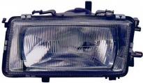 Фара левая (под корректор, с пластиковым отражателем) AUDI 80 1987-1991 год / B3