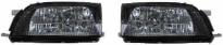 Фара левая+правая (комплект, тюнинг, прозрачная, внутри черная) TOYOTA CALDINA 1992-1997 год / Т19