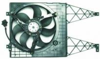 Диффузор радиатора охлаждения в сборе 1.6L 1.8L 2.3L (рамка+вентилятор+мотор, без кондиционера) VOLKSWAGEN GOLF 1997-2003 год / IV