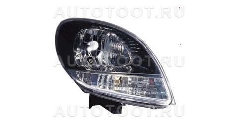Фара правая (под корректор, внутри черная) Renault Kangoo  2003-2007 год / I