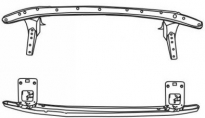 Усилитель переднего бампера (с креплениями под противотуманки) SUBARU  LEGACY 1993-1999 год / BD, BG, BK