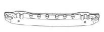 Усилитель переднего бампера (пластик) SUBARU  LEGACY 1993-1999 год / BD, BG, BK