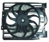 Диффузор радиатора кондиционера в сборе (мотор+рамка+вентилятор) BMW 5SERIES 1995-2000 год / Е39