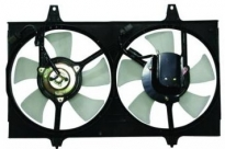 Диффузор радиатора в сборе (мотор+рамка+вентилятор) NISSAN CEFIRO 1994-1998 год / A32