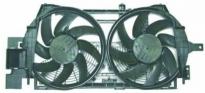 Мотор + вентилятор радиатора охлаждения (с корпусом, 2 вентилятора)
