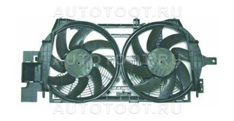 Мотор + вентилятор радиатора охлаждения (с корпусом, 2 вентилятора) Renault Laguna 1998-2001 год / I