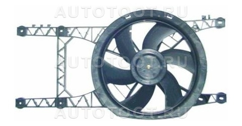 Мотор+вентилятор радиатора охлаждения АТ (с корпусом, без кондиционера) Renault Laguna 1998-2001 год / I