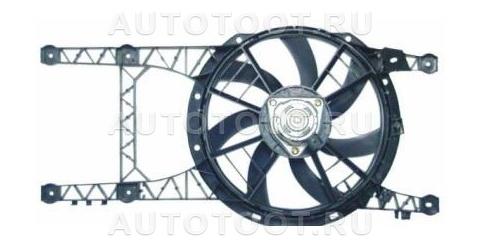 Мотор+вентилятор радиатора охлаждения MT (с корпусом, без кондиционера) Renault Laguna 1998-2001 год / I