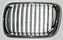 Решетка радиатора левая (полностью хром) BMW 3SERIES 1994-1999 год / Е36