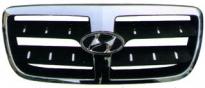 Решетка радиатора (хром, черная) HYUNDAI SANTA FE 2005-2009 год / CM