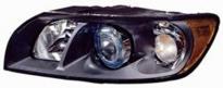Фара левая (с электрокорректором, ксенон, внутри черная) VOLVO S40 2004-2008 год / II