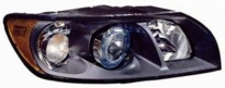 Фара правая (с электрокорректором, ксенон, внутри черная) VOLVO S40 2004-2008 год / II