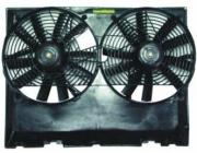 Дифузор радиатора охлаждения в сборе (двухвентиляционный, мотор+вентилятор+рамка)  MERCEDES E-CLASS 1985-1992 год / W124