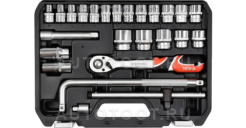 Набор инструмента 25 предметов (посадочный размер 1/2 дюйма) -