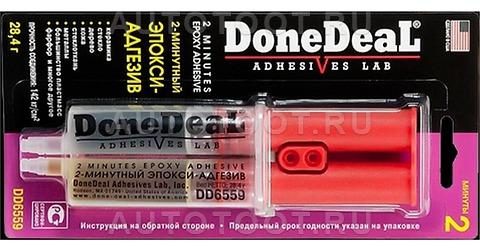 Эпоксидный клей адгезив DONE DEAL в шприце 2-мин 2-компонентный прозрачный -