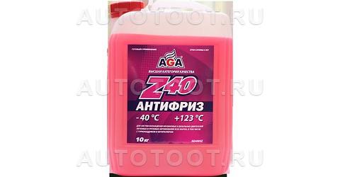AGA Антифриз готовый красный (-40) 10л -