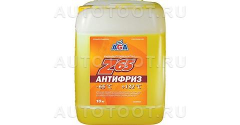 AGA Антифриз готовый желтый (-65) 10л -