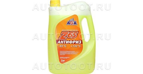 AGA Антифриз готовый желтый (-65) 5л -
