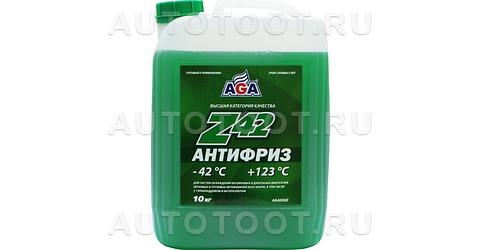 AGA Антифриз готовый зеленый (-42) 10л -