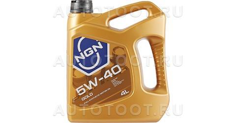 5W-40 GOLD SN/CF масло моторное 4л синтетика -