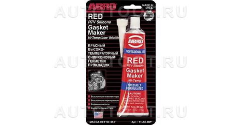 Герметик прокладок высокотемпературный красный ABRO 85гр -