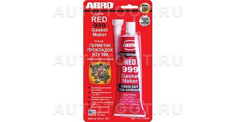 Герметик прокладок 999 силиконовый ABRO (красный) 85 г -