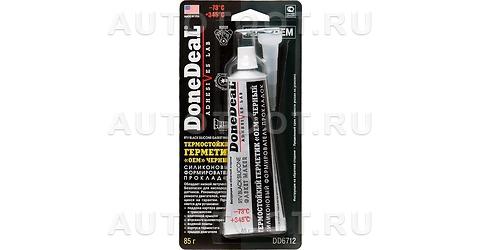 Герметик термостойкий черный силиконовый формирователь прокладок Done Deal -